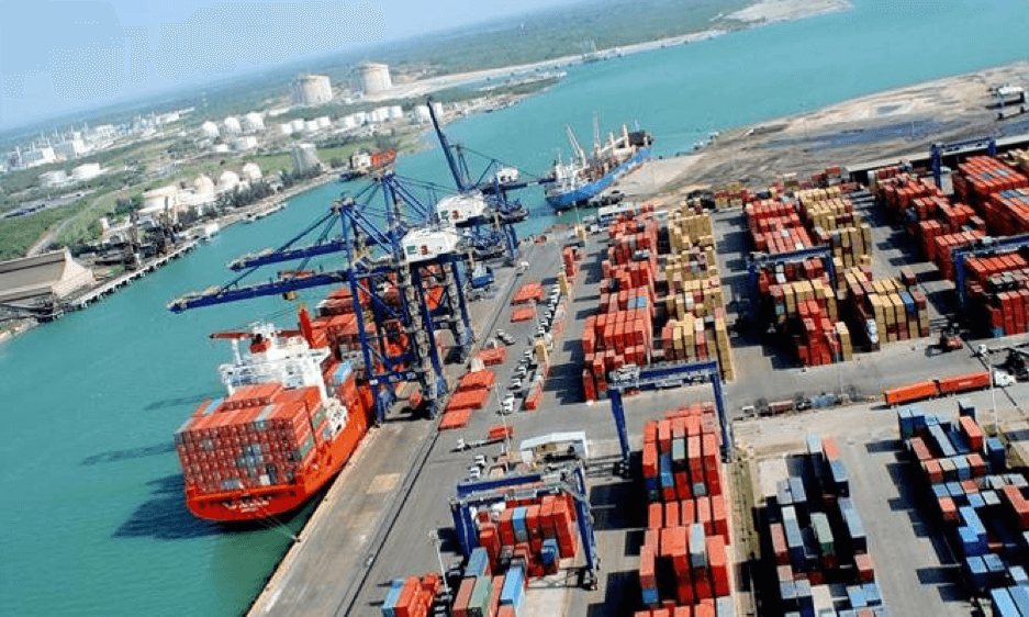 Container Terminal in Victoria, Southern Eastern Australia.