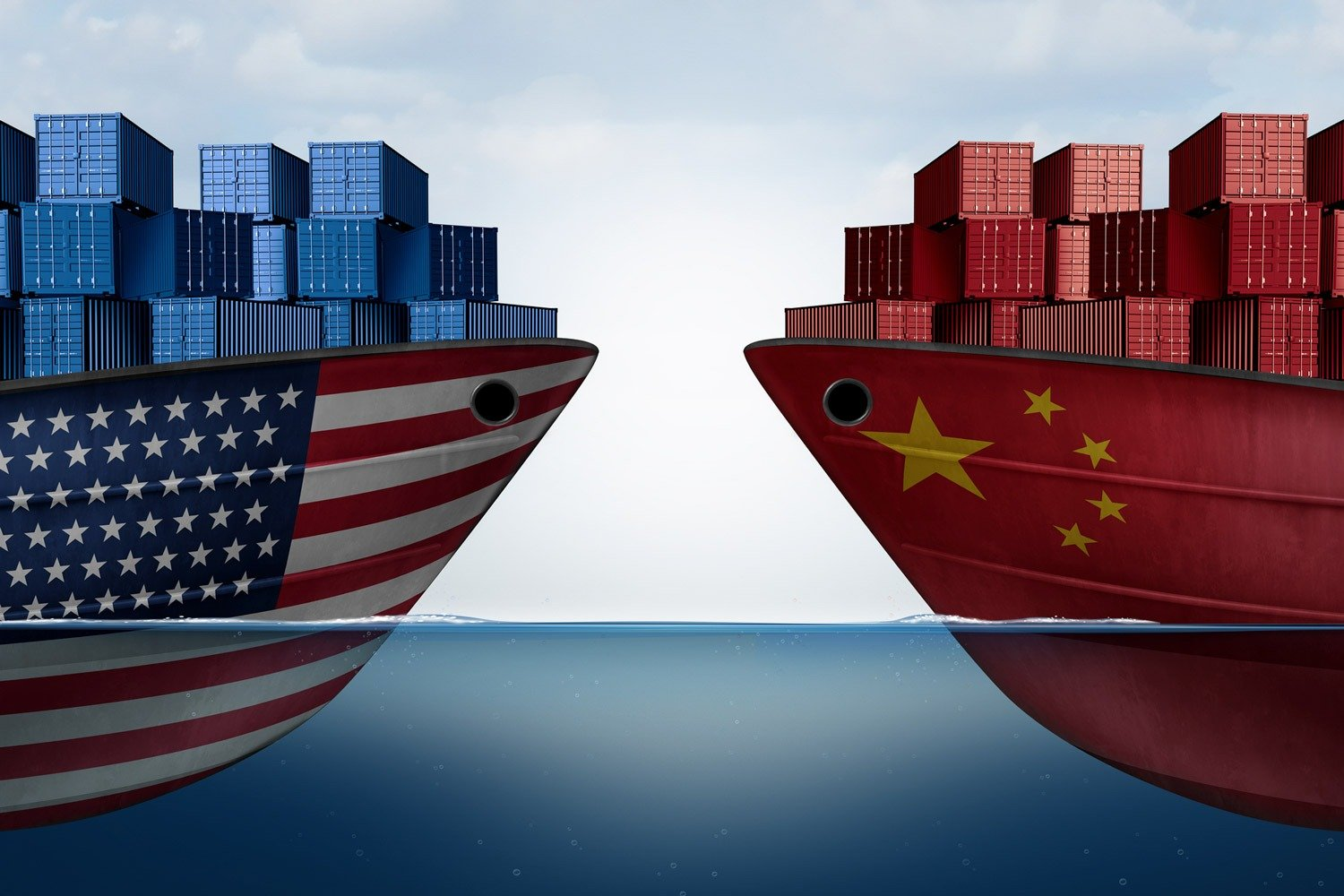 us and chinese container ships
