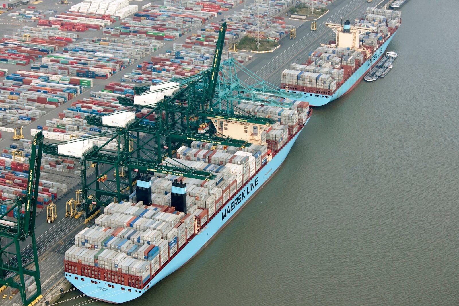 maersk vessel at harbor