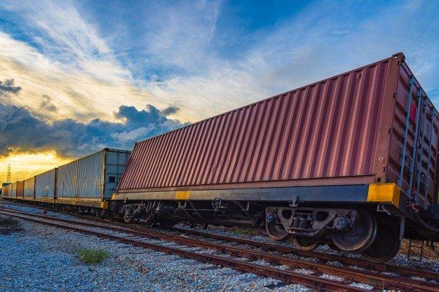 derailed container train