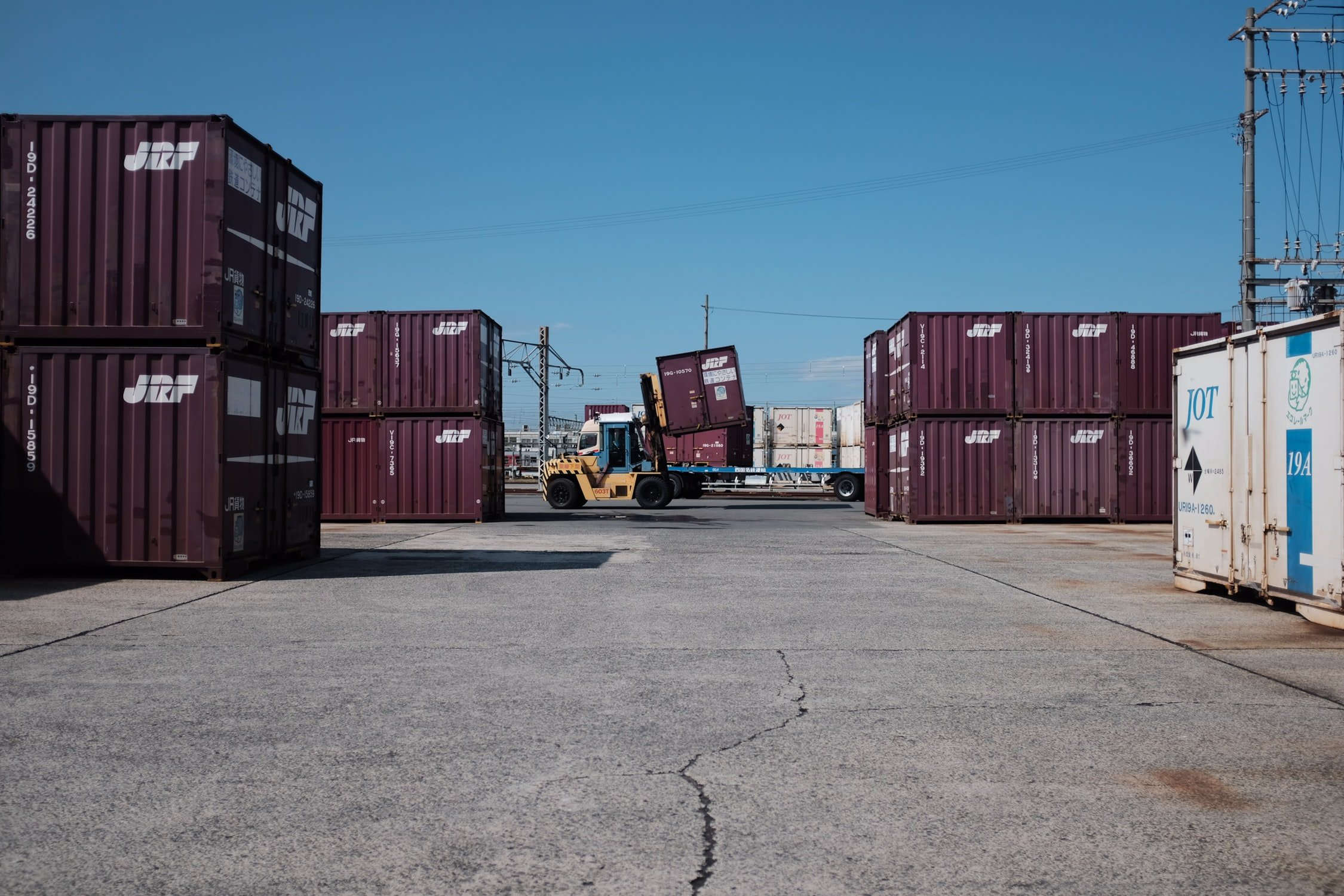 container chassis at container depot