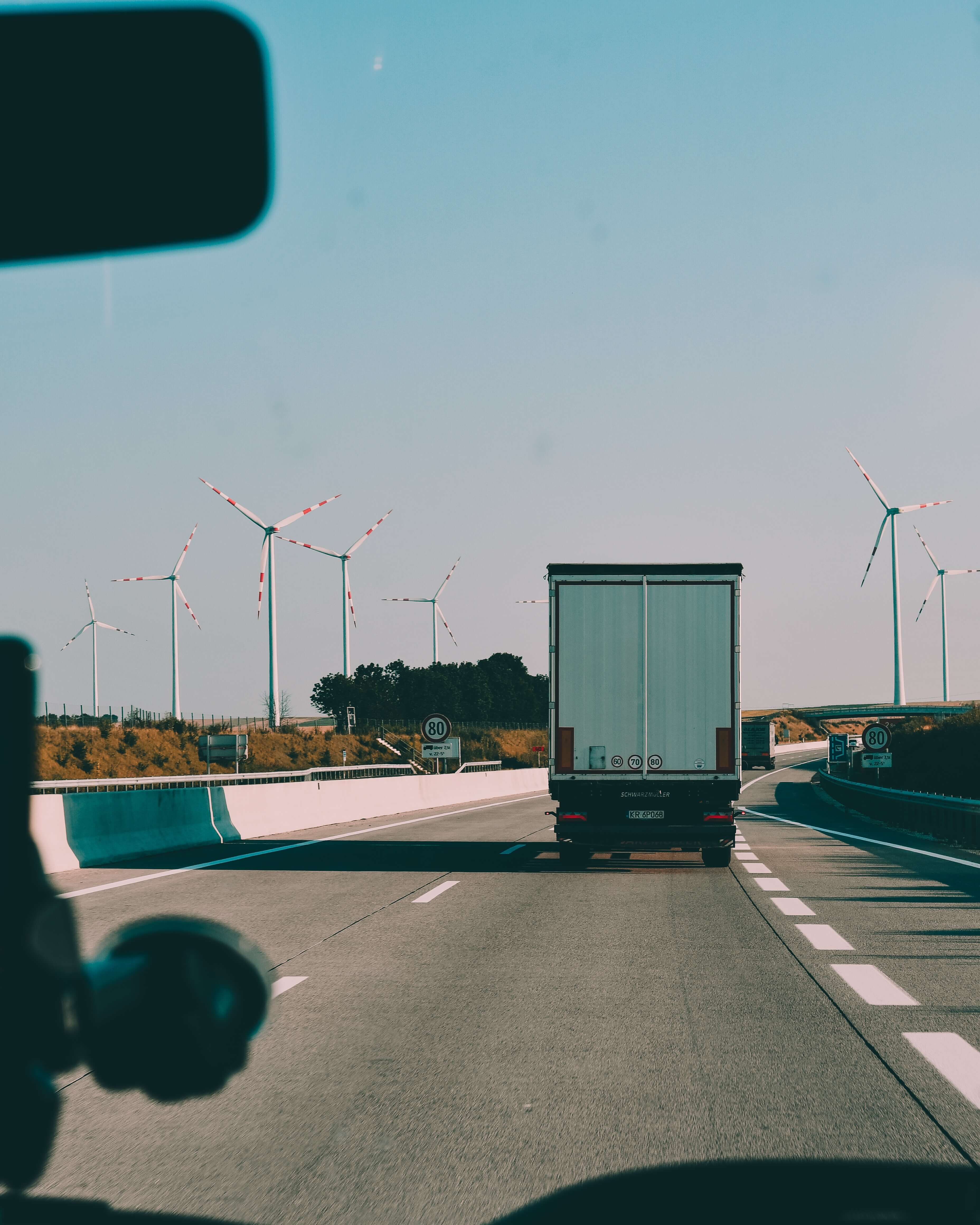 container trucks on the road