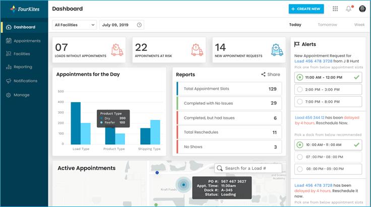 Screenshot of Freight Forwarding Software - Fourkites