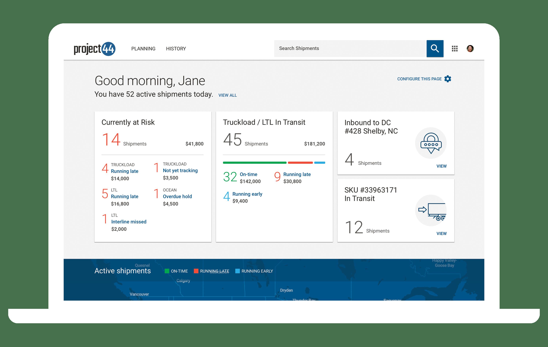 Screenshot of Freight Forwarding Software - Project44