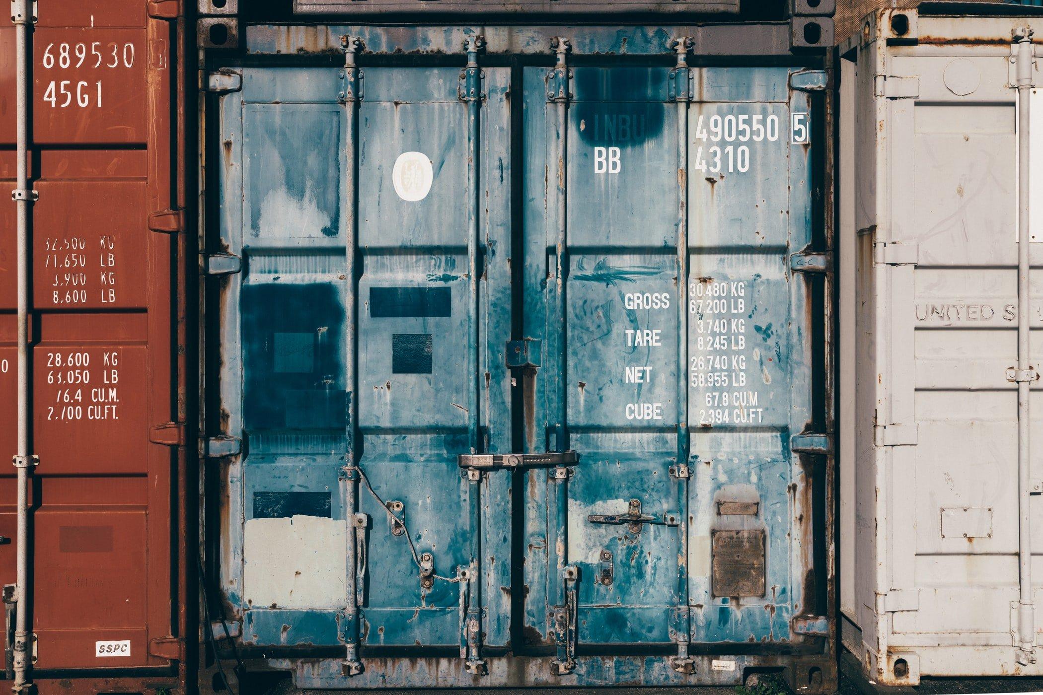 rustic container doors