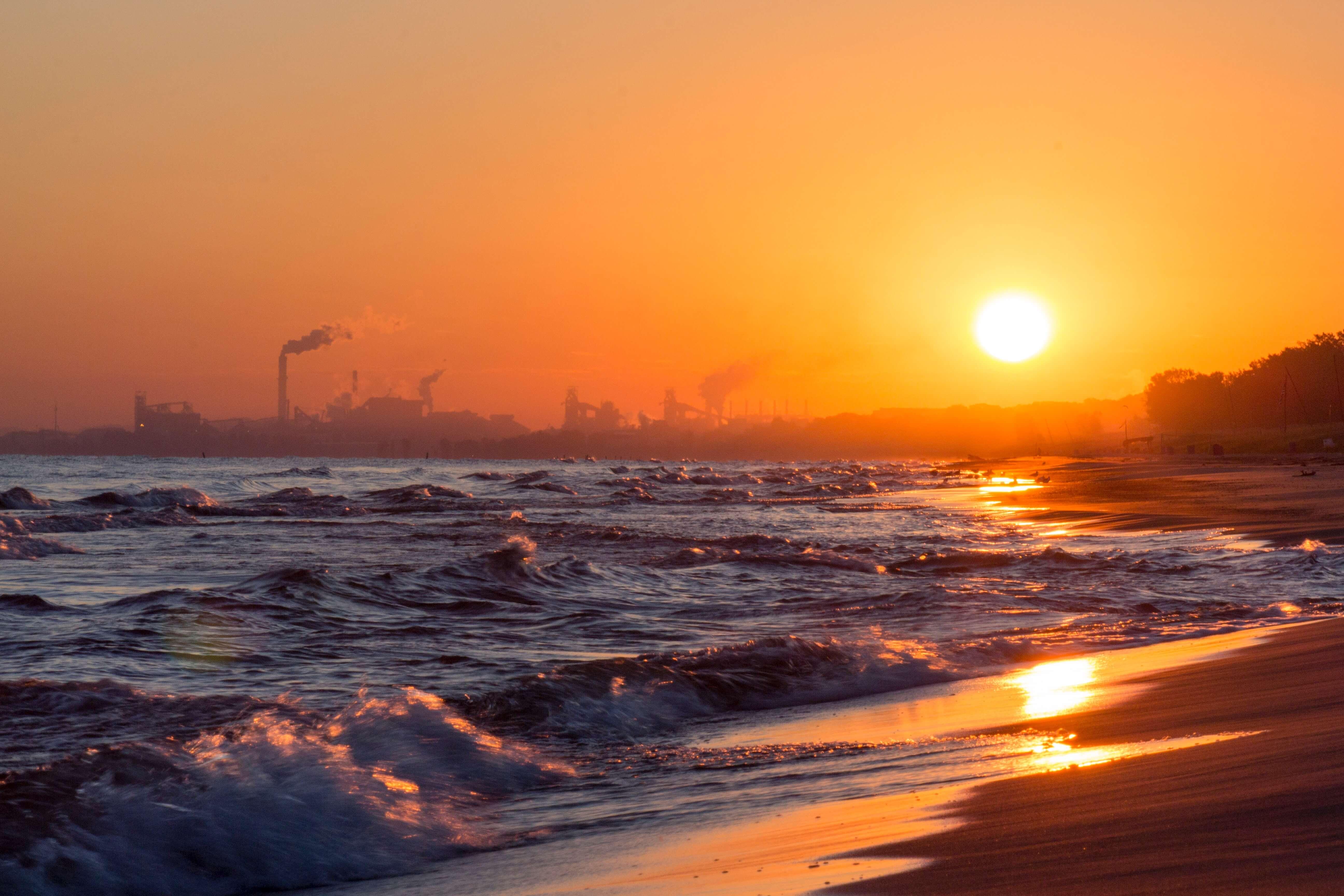 sea shore at sunrise