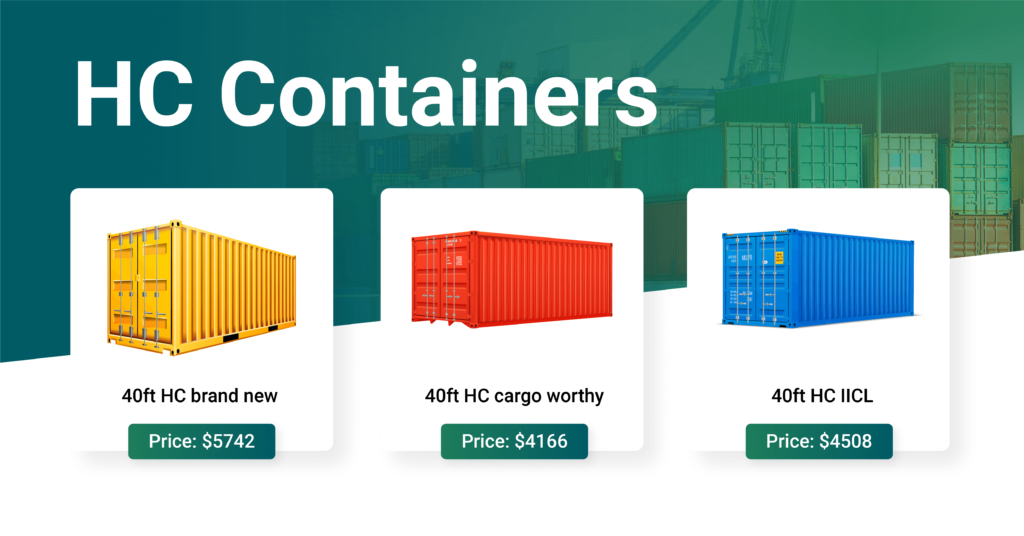 high cube container for sale